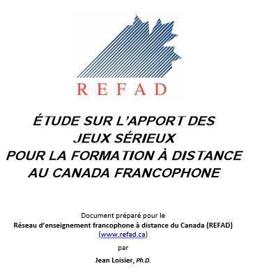 Étude sur l'apport des jeux sérieux pour la formation à distance au Canada francophone