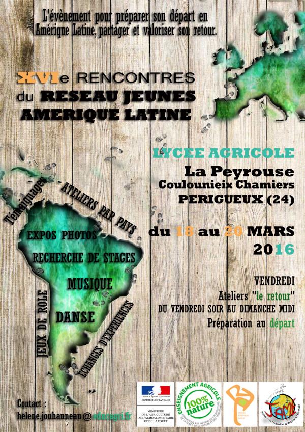 Inscrivez vous aux 16ème rencontres du réseau Jeunes Amérique Latine
