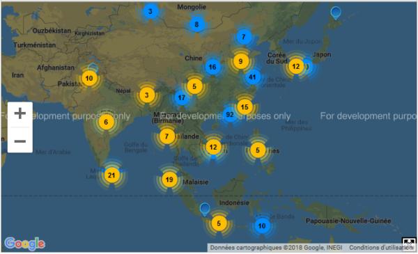 Avec l'Atlas de la coopération décentralisée découvrez avec quelles Régions du monde votre territoire a des collaborations