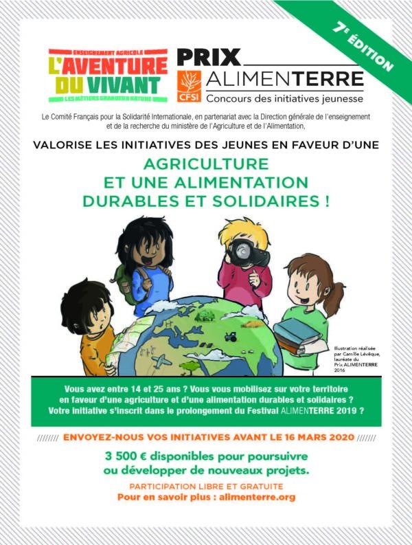 Candidatez au Prix Alimenterre 2020 pour valoriser les initiatives de jeunes en faveur d'une alimentation durable